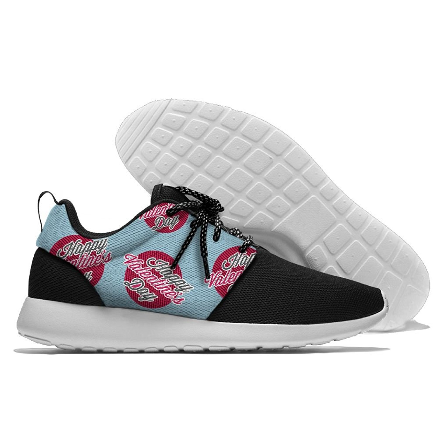 Happy Valentine's Day Mens Print Casual Sport Shoes Fashion Breathable Sneakers Running Shoes