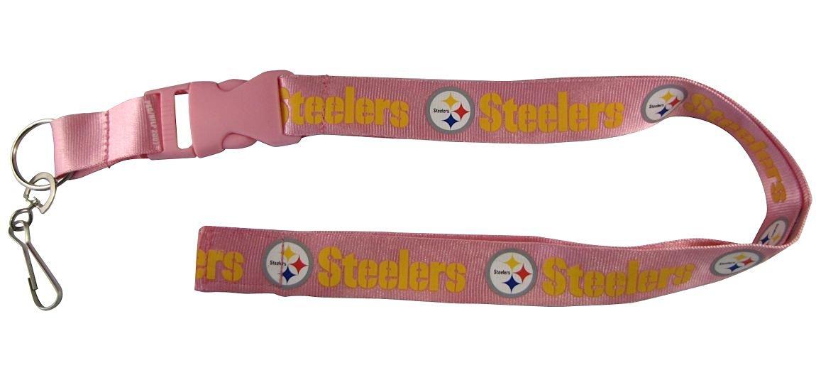 NFL Pittsburgh Steelers Lanyard, Pink