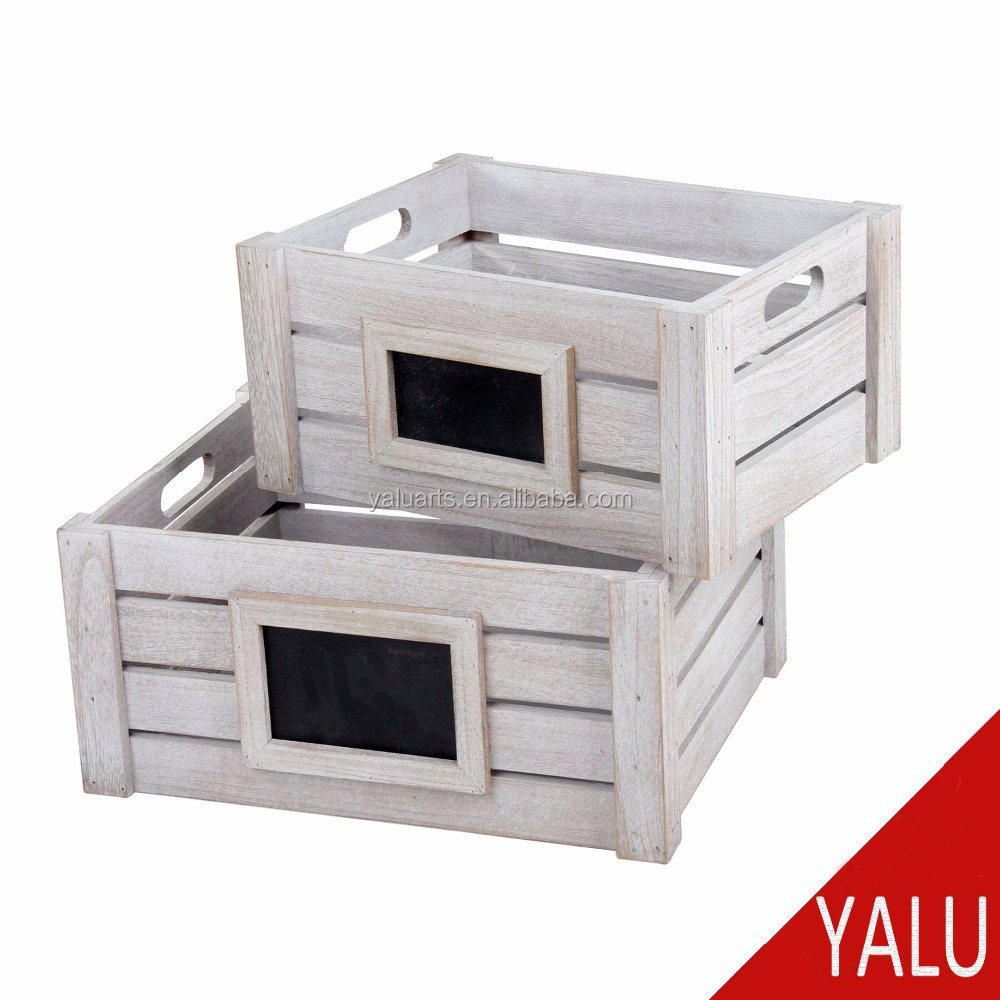 Multi-purpose eco-friendly 100% fatti a mano cassa di legno di frutta verdura crate H-20100