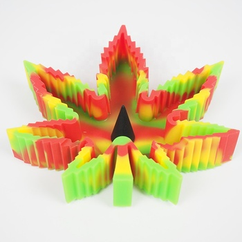 Factory Rasta Silicone Glass pipe ash cleaner Cigar Holder Weed Smoking Ashtray