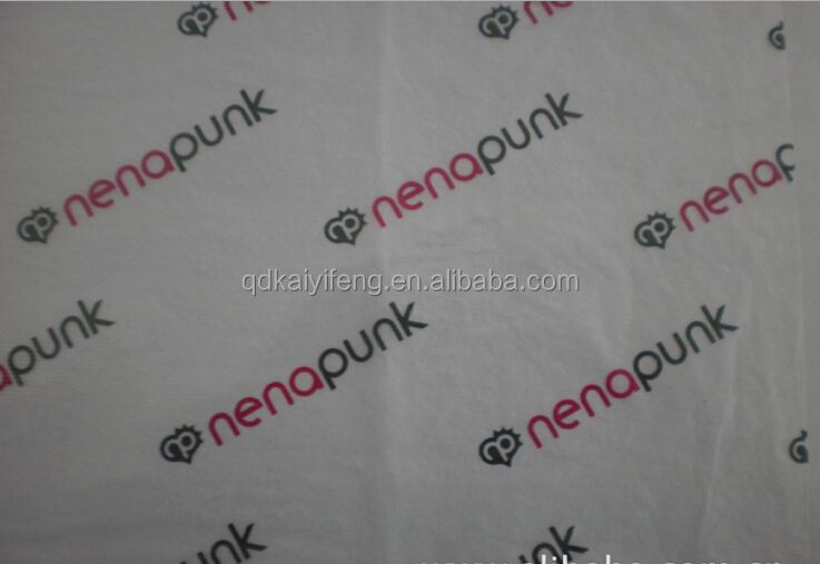Qingdao factory 17gsm Thin Wrapping Tissue Paper with Company Logo