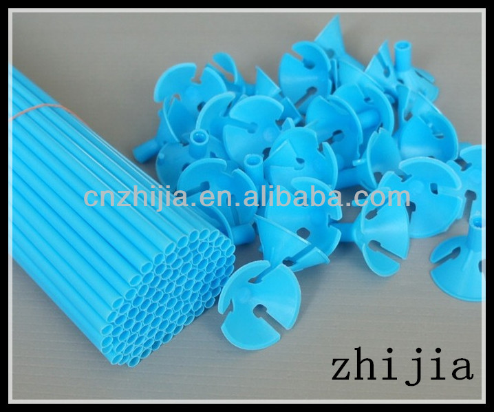 4.8X400MM plastic balloon stick and cup for party