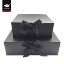 High Quality Popular Shopping Shawl Magnet Black Packaging Box