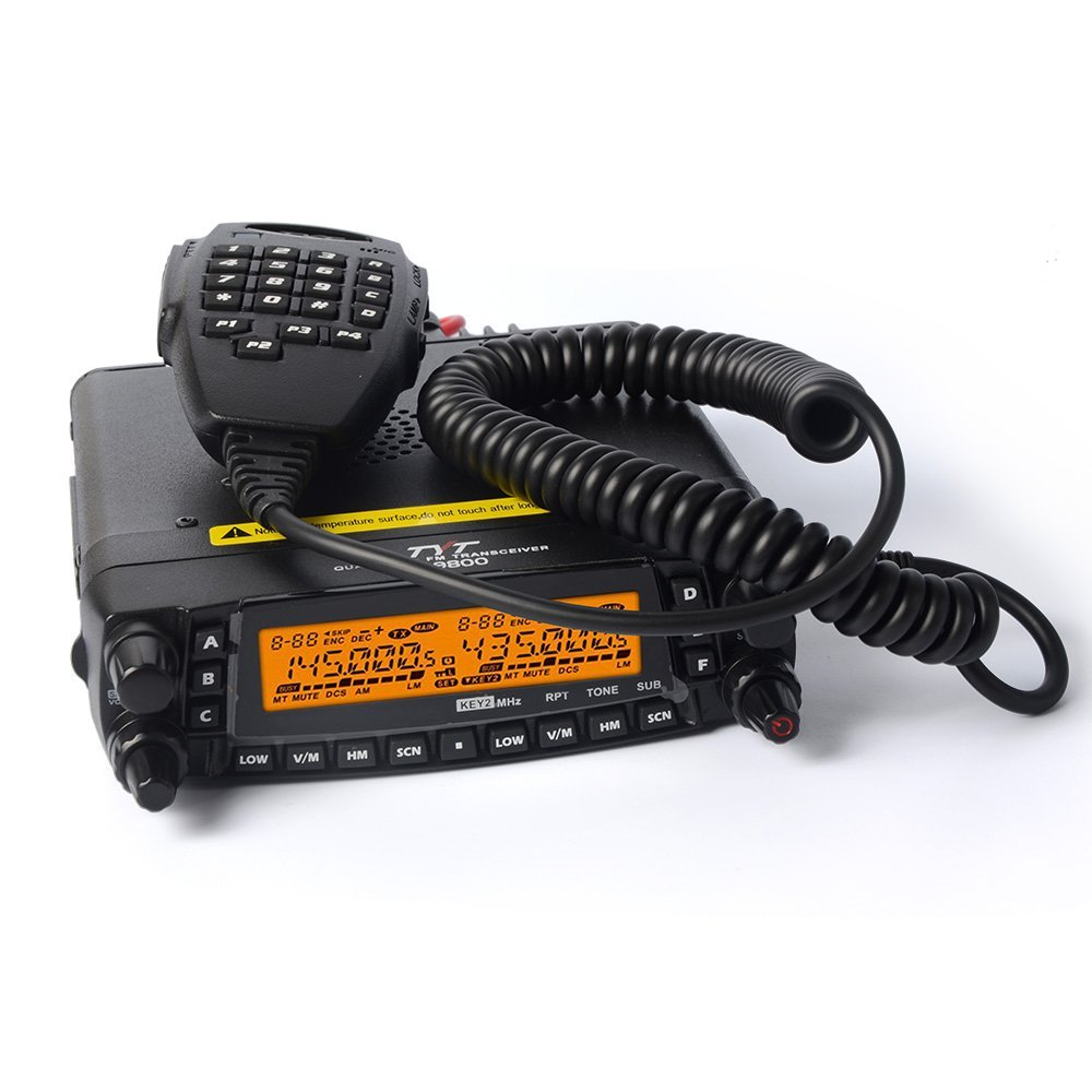 TYT TH-9800 Quad Band 50 W Cross-Band Celular Ham Radio Preto