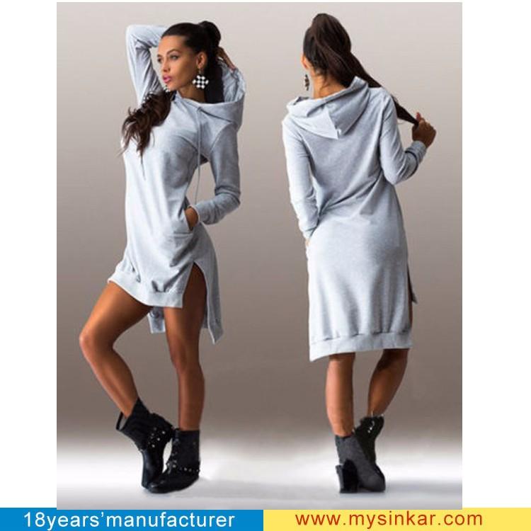 5603d173deb Новые женские повседневные длинные толстовки осень-зима 2015 женские  модельные винтажные элегантные спортивные платья с