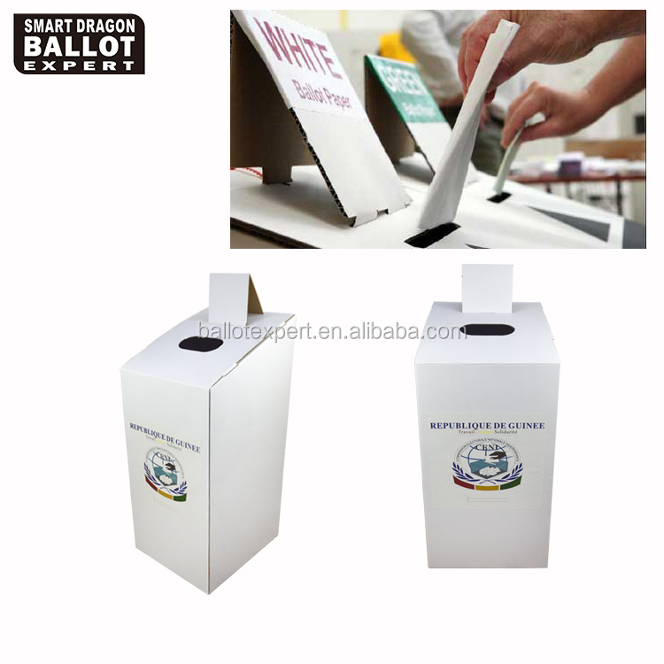 Made in China White Paper Corrugated Cardboard Ballot Box for Election