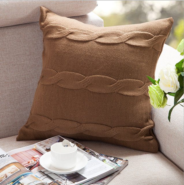 Sofa Knitting Cushion Cover Leather Pillow Case - Buy Chinese Embroidered  Cushion Cover Pillow Cover,Sofa Knitting Cushion Cover,Cushion Product on  ...
