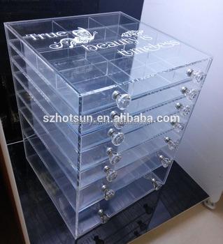 Customize Drawers Clear Acrylic Makeup Organizer Cosmetic Organizer Box Buy Clear Custom Made Acrylic Boxes Clear Acrylic Jewelry Organizer Box Folding Organizer Box Product On Alibaba Com