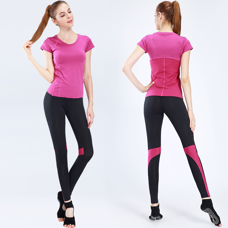 2 Piece Lycra Outdoor Zumba Customised Label Hang Tags Wholesale Fit Slim Tracksuit Womens Ladies Sexy Hot Bra Set Sportswear