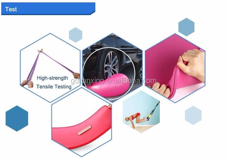 Customized logo plastic packaged natural latex exercise yoga band
