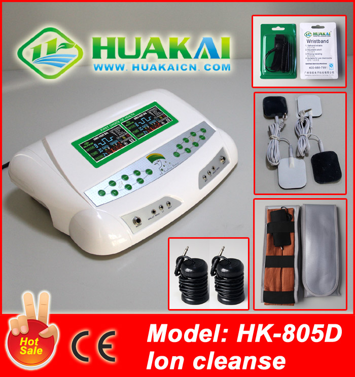 2014 Newest &Hot Sell Dual HK-805D With Tens Pads and FIR Adjustable Temperature Slimming Waist belts aqua chi foot detox machin