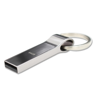 High Quality Full Capacity Metal Waterproof Usb Flash Memory 16GB 32GB Pen thumb drives 4GB 8GB 1TB Memory Stick Key Ring