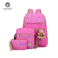 New Style Cute School Bag 2019 Backpack Book Bag Set 3 Bags Day Backpack For Wholesale