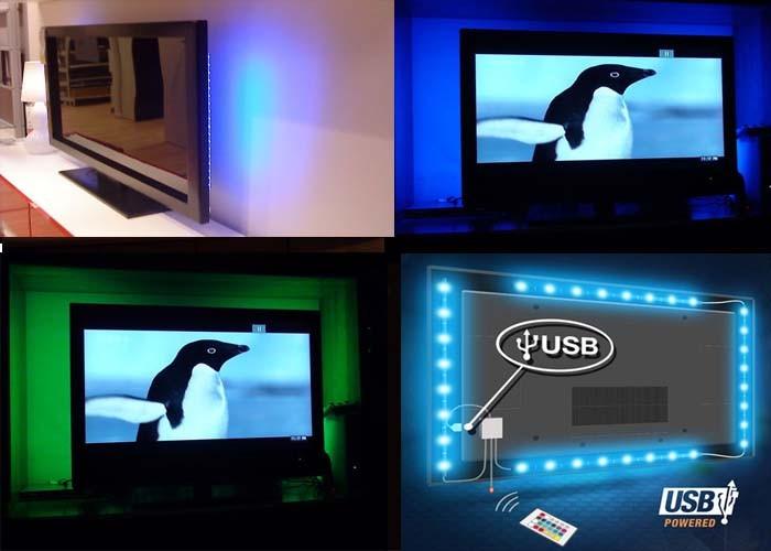 5 v 5050 60smd m rgb led light strip bar tv torna kit di