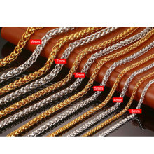 Gold & Rose Gold & Staal Twist 304 Rvs Sieraden <span class=keywords><strong>Ketting</strong></span> <span class=keywords><strong>Ketting</strong></span>