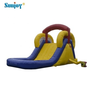 Outdoor sale industrial extreme ramp screamer home used small children's inflatable water slide with a pool and climbing wall