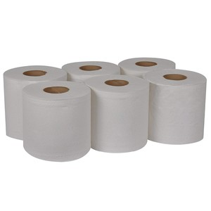 Factory direct disposable eco-friendly virgin/recycled white/natural custom restroom bathroom industrial roll paper towel rolls