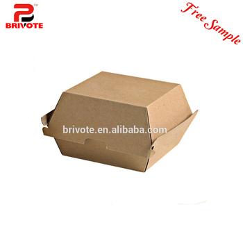 Packaging Burger Box Templates Packing Cardboard