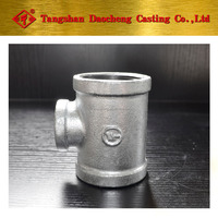 "4"" * 3"" Galvanized Bended Reducing Tee Pipe Fittings"