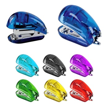 Top sales top grade funny style multifunction pocket colorful eco-friendly plastic stapler with staples remover