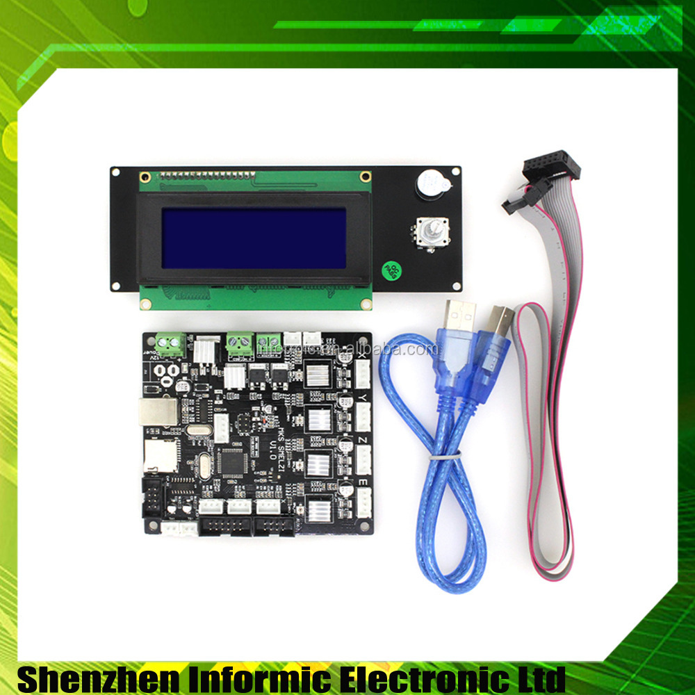 3D Printer Control Board MKS SMelzi+Melzi LCD2004 Module Set for marlin