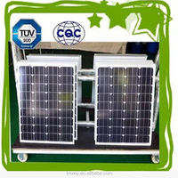 CE and TUV certificated 100W mono solar panel with high efficiency solar cell