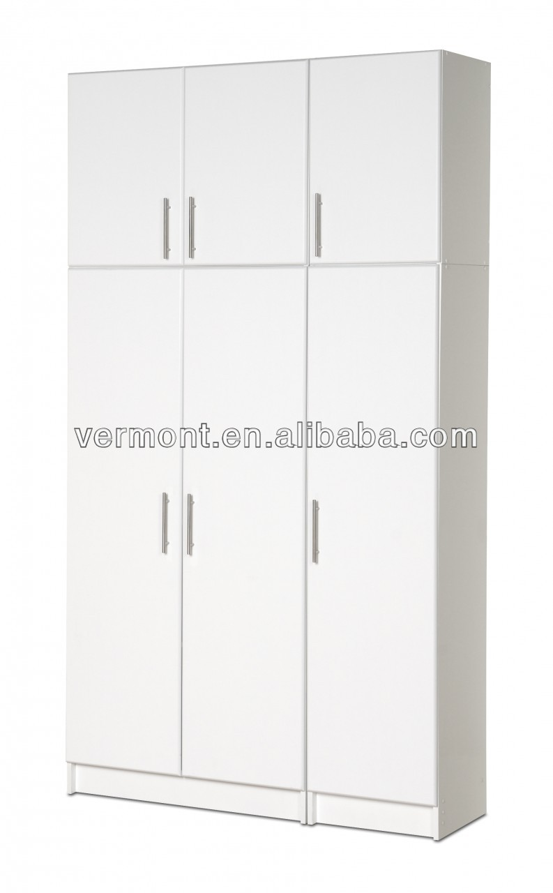 modern design plastic high gloss paint luxury pantry cupboard