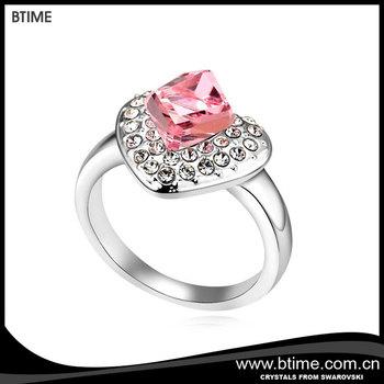 Love Symbol Diamond Heart Wedding Ring Crystals From Swarovski Buy