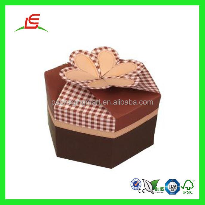 Q964 China Wholesale Mini Custom Hexagon Shape Gift Box With ...