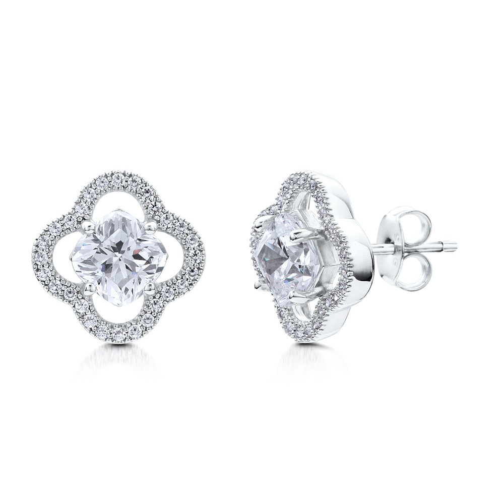 Meyiert 925 Sterling Silver Studs Earings for Women Cubic Zirconia Gemini Sets (with Gift Box) Xn4IlZk6