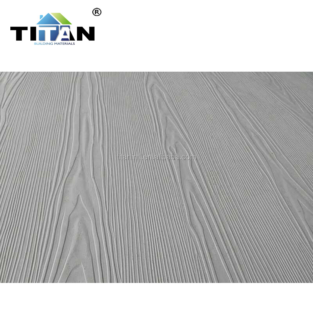 Wood Grain Fiber Cement Panel 6mm, Wall Board Fiber Cement