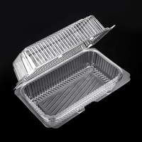 PET Blister Packaging Hinged Clear Plastic Clamshell Food Container