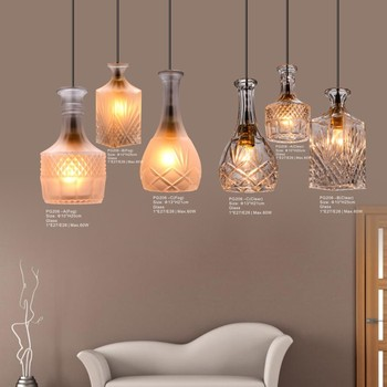 Hanging Glass Bottle Lights Energy Saving Vintage Diy Lamp For Kitchen Dining Or Living Room Buy Glass Bottle Light Haning Light Diy Lamp Product On