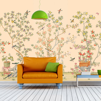Asian Garden Wall Murals Made By Uv Print System Buy Wall Hanging Murals Product On Alibaba Com