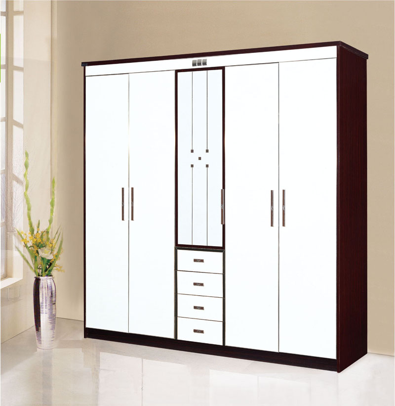 Antique Particle Board Wardrobe Closet With Cupboard 200855