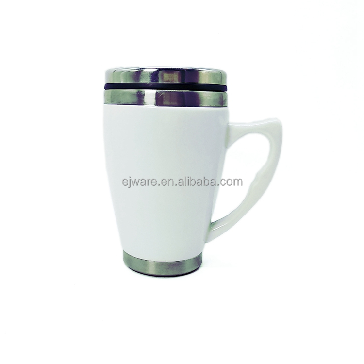 Hot New Products For Mug Tazza da viaggio in ceramica con tazza bianca in ceramica sublimazione bianca sublimata