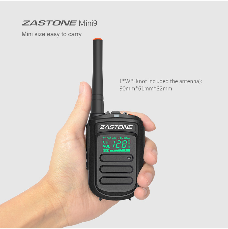 MINI9 2W Zastone MINI9 two way radio UHF 400-470MHz Handheld walkie talkie