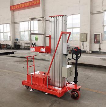 Ce Certification Aluminium Single Mast Lift Table / Mobile Aluminium ...