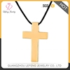 Simple design stainless steel cheap large gold cross pendant for men