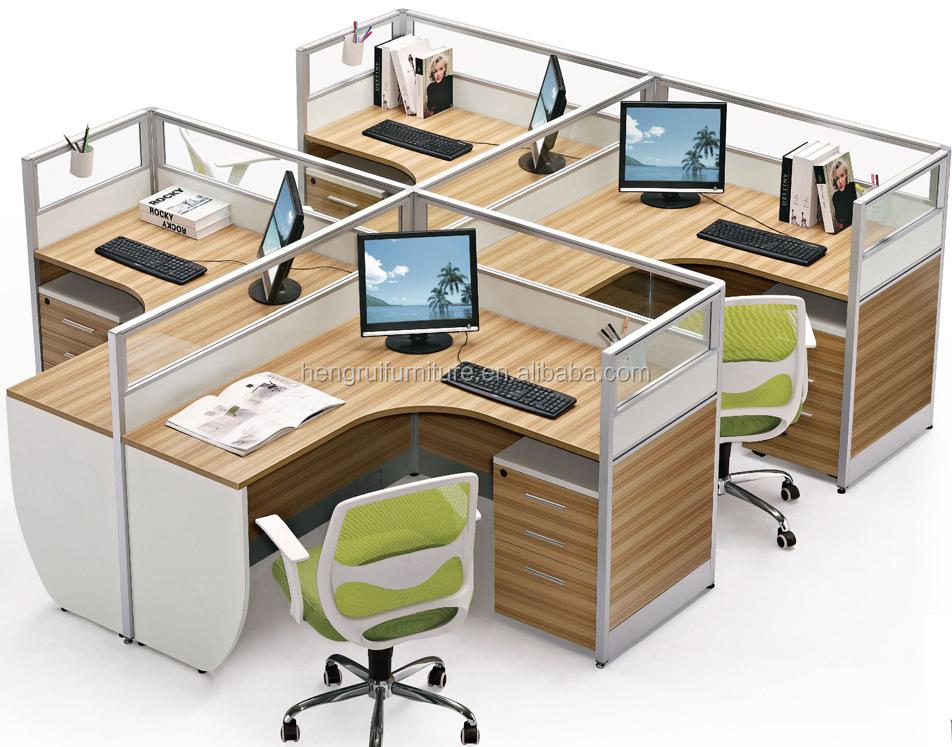 i shape 4 peopel modern office cubiles cheap call center cubicles with low wall cheap office cubicles