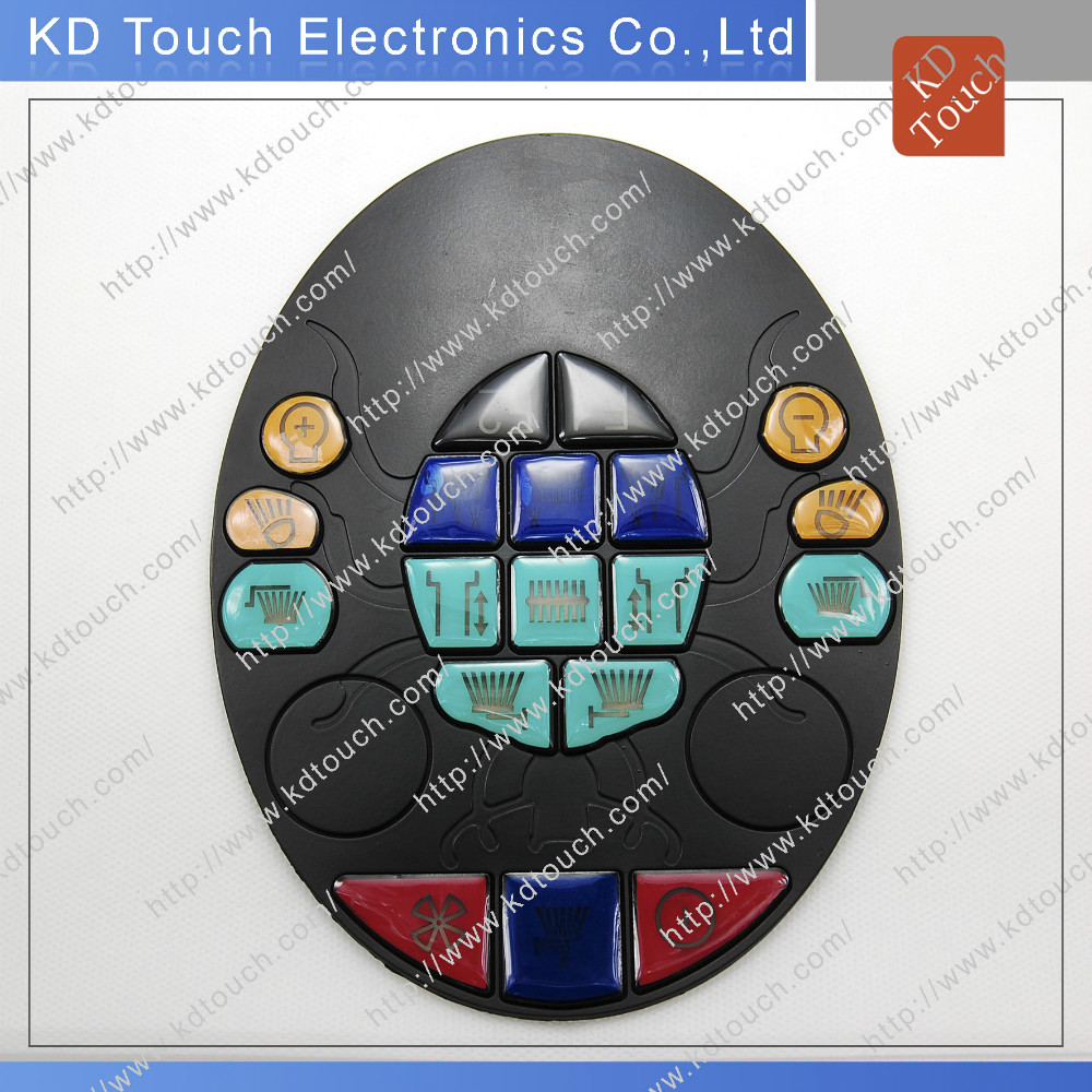 Customized Elastomer Silicone keyboard with multi color key