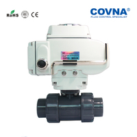 2 Way Motorized plastic pvc ball valve price
