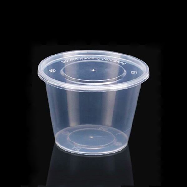 Clear Round Plastic Food Container With Lid,Food Storage Container