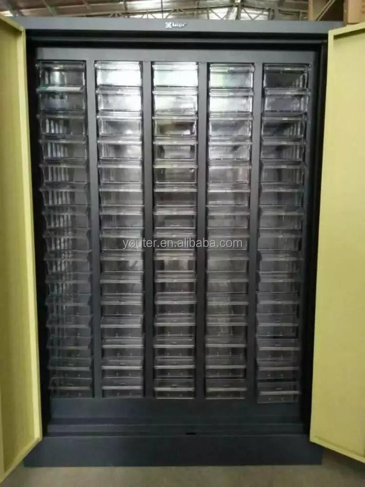casier en acier armoire 75 tiroir de rangement en plastique pi ces mat riel et cabinet d. Black Bedroom Furniture Sets. Home Design Ideas