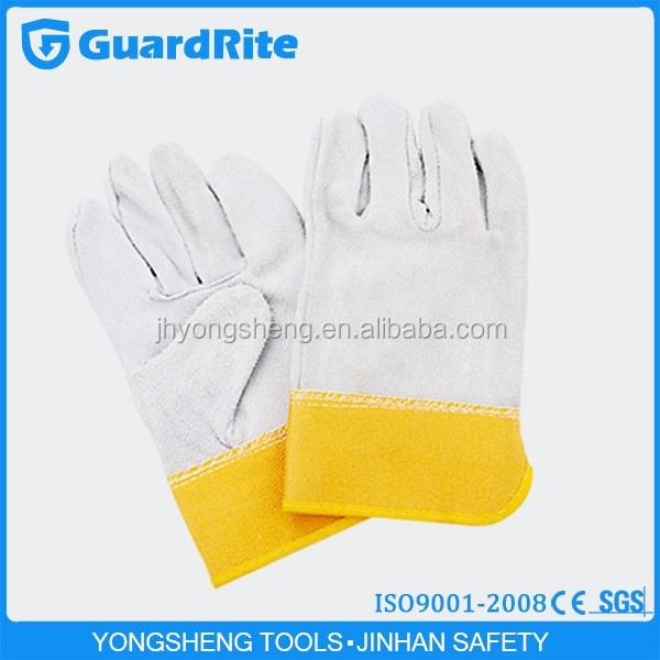 "GuardRite brand 11"" cowhide leather work gloves lahore manufacturer"