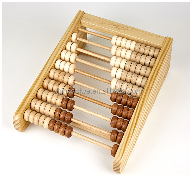 wooden stedent abacus soroban Classic Wooden Educational Counting Toy With 100 Beads