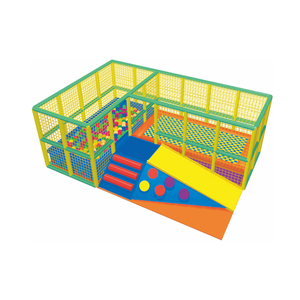 2019 new design kindergarten kids climb and slide with ball pool soft play for indoor playground equipment