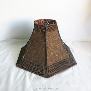 Brown wicker rattan lamp shade table or floor lamp bamboo brown wicker rattan lamp shade table or floor lamp bamboo lampshade aloadofball Images