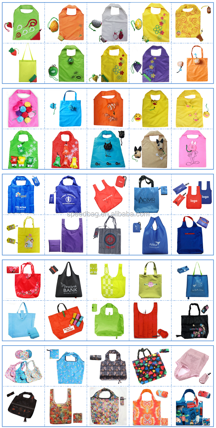 2018 best selling promotional foldable shopping bagCheaper polyester folding tote shopping bag