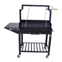 Hot Selling 4 to 8 people Black Indoor Brazilian chalcoal Rotating Charcoal BBQ Grills Skewer Machine